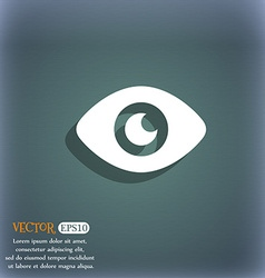 Eye publish content icon symbol on the blue-green vector