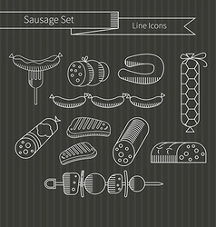 Sausage set vector