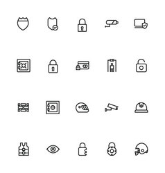 Security Line Icons 4 vector image