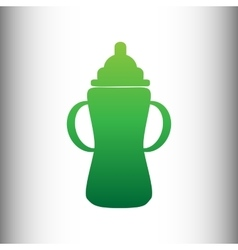 Baby bottle sign vector