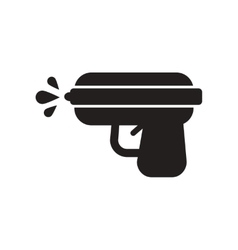 Flat icon in black and white style water gun vector