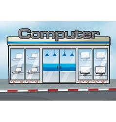 A computer shop vector image vector image