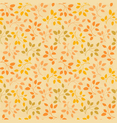 beautiful leaves seamless pattern vector image