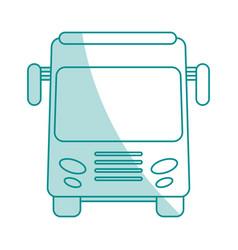 Bus flat shadow vector