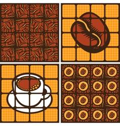 coffee grains vector image vector image
