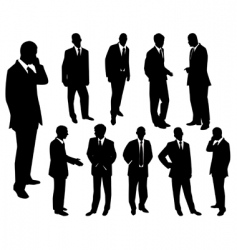collection of businessmen vector image vector image