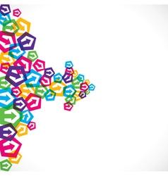 colorful arrow icon make arrow shape stock vector image vector image