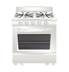 Colorful realistic silhouette of stove with oven vector