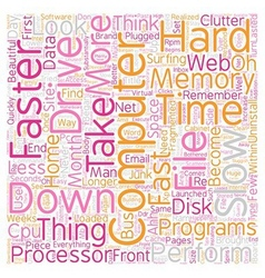 Computer no longer fast text background wordcloud vector