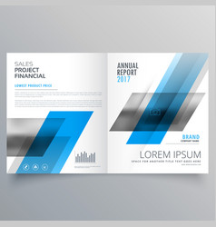 Creative business magazine booklet layout vector