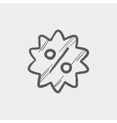 Discount tag sketch icon vector image vector image