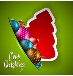 Elegant Classic Christmas flyer vector image