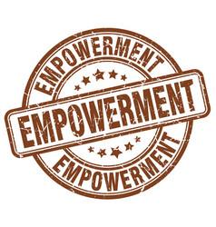 Empowerment brown grunge stamp vector