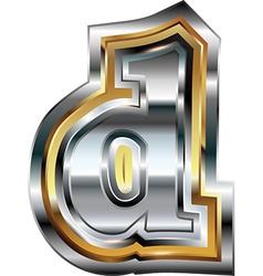 Fancy font Letter d vector image
