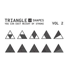 geometric logo design vector image