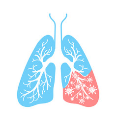 icon of lung disease bacteria vector image vector image