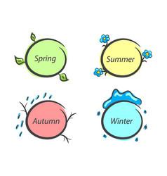 message frames nature seasons spring summer vector image vector image