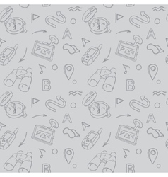 Navigation hand drawn doodles seamless pattern vector image