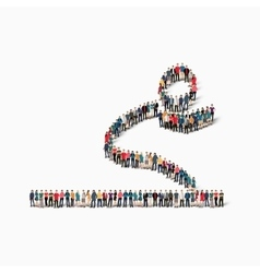 people long jump vector image