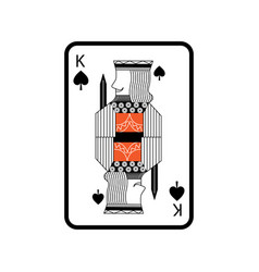 Poker king of spades playing card vector