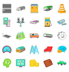 Repository icons set cartoon style vector