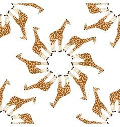 Seamless giraffe pattern vector