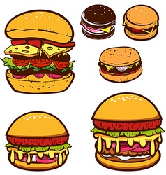 Set of burgers vector image