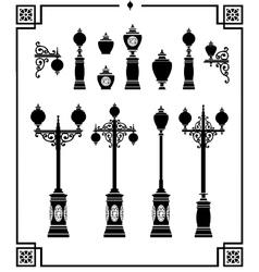 Street lamps vector