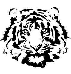tiger head in black interpretation 1 vector image
