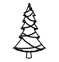 Tree chrsitmas isolated vector