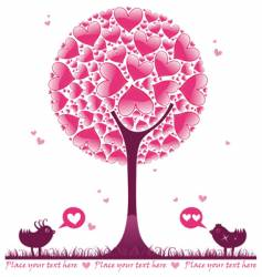 valentine decorative tree vector image vector image