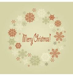 Vintage christmas wreath vector
