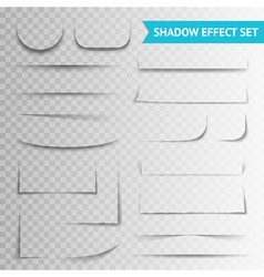 White paper cuts transparent shadow set vector