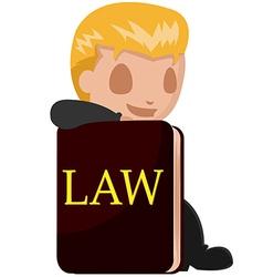 Worker Man Lawyer Cartoon Book vector image