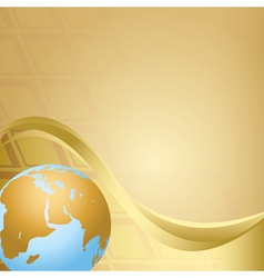 Abstract beige background with globe vector