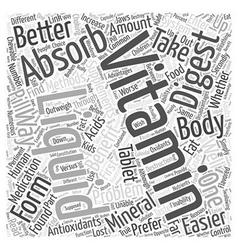 Benefits of liquid vitamins word cloud concept vector