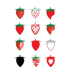 Collection of strawberry vector