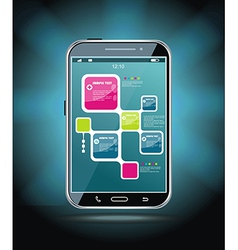 Touchscreen smartphone vector