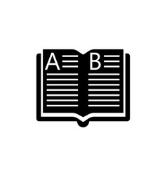 open book solid icon education and school element vector image