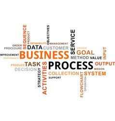 Word cloud business process vector