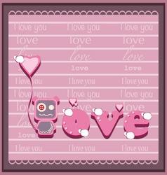 Love2 vector image