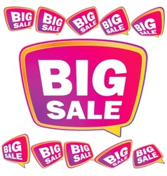 3D big Sale tags EPS8 vector image