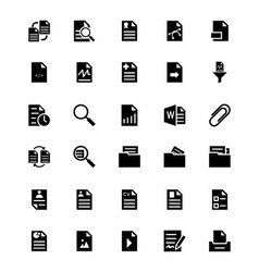 Documents icons 3 vector