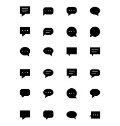 Chat massages icons 1 vector