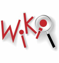 wiki magnifying glass vector image