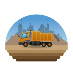 Construction and truck design vector