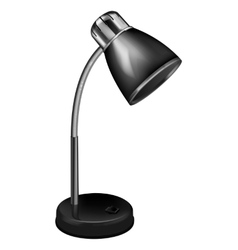 Black table lamp vector