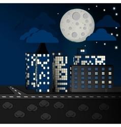 Moon city vector image
