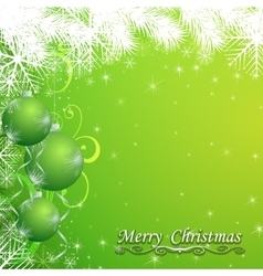 Abstract christmas ball on new year background vector