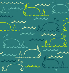 Abstract sea background with seamless pattern of vector